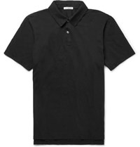James Perse Slim Fit Supima Cotton Jersey Polo Shirt Black
