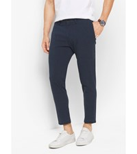 Slim Fit Linen Trousers Midnight