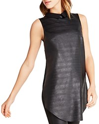 Bcbgeneration Sleeveless Faux Leather Top Black