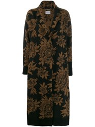 Salvatore Ferragamo Floral Coat Brown