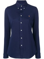 Polo Ralph Lauren Logo Fitted Shirt Blue