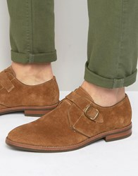 Aldo Okanagan Suede Single Monk Shoes Tan