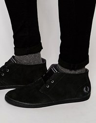 Fred Perry Byron Mid Suede Chukka Boots Black