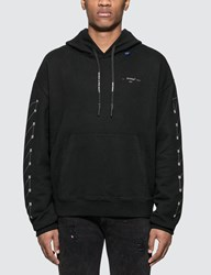 Off White Diagonals Backbone Hoodie Black