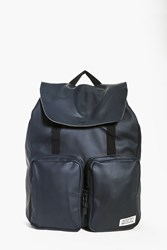 Double Pocket Pu Rucksack