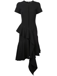 Josie Natori Ruffle Detail Dress Black