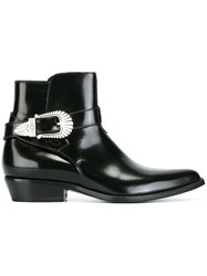 Sonora Buckle Strap Boots Black