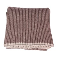 40 Colori Beige Ribbed Wool And Cashmere Scarf Neutrals