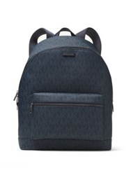 Michael Kors Jet Set Textured Logo Backpack Baltic Blue