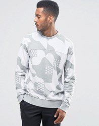 French Connection Pattern Crew Neck Sweatshirt Grey