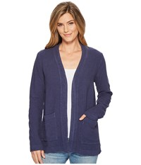 Mod O Doc Weekender Rayon Linen Patch Pocket Cardigan New Navy Women's Sweater