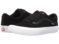 Vans Old Skool Pro Black Black White Men's Skate Shoes