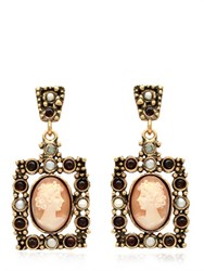 Alcozer And J. Cameo Earrings