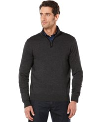 Perry Ellis Half Zip Mock Sweater