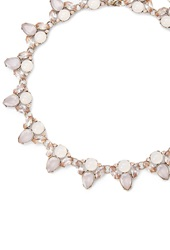 Forever 21 Faux Gem Statement Necklace Pink