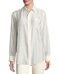 Ralph Lauren Damien Cotton Voile Blouse Cream