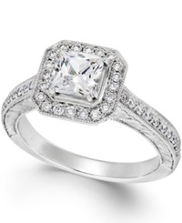 Macy's Certified Diamond Engagement Ring In 18K White Gold 1 1 2 Ct. T.W.