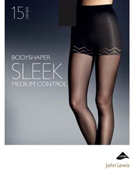 John Lewis 15 Denier Sleek Body Shaper Tights Black