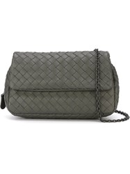 Bottega Veneta Mini Messenger Intrecciato Bag Grey