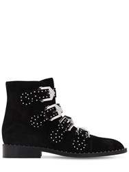 Givenchy 20Mm Studded Suede Ankle Boots Black
