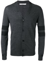 Givenchy Panel Stripe Cardigan Black
