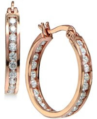 Giani Bernini Cubic Zirconia Inside Out Hoop Earrings In 18K Rose Gold Plated Sterling Silver Only At Macy's