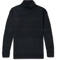 S.N.S. Herning Virgin Wool Rollneck Sweater Blue