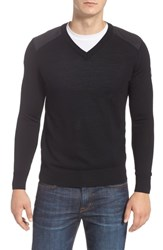 Canada Goose Mcleod V Neck Merino Wool Sweater Black