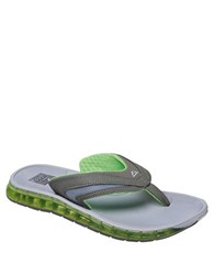 Reef Boster Slip On Sandals Grey Green