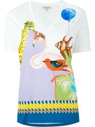 Etro Animal Print T Shirt White