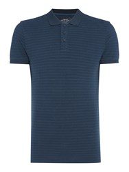 Criminal Men's Ryder Stripe Pique Polo Blue