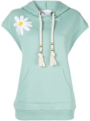 Mira Mikati Daisy Chenille Embroidered Hoodie Green