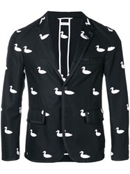 Thom Browne Duck Embroidery Tux Sport Coat Black