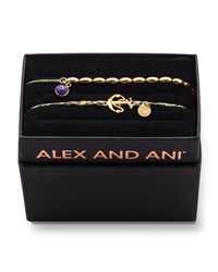 Alex And Ani Braided Anchor Bracelet Gift Set Gold