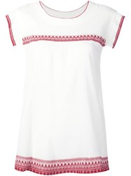 The Great Embroidered Top White