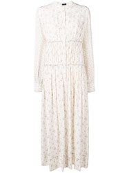 Joseph Tala Woolf Patchwork Dress Neutrals