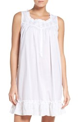 Eileen West Women's Cotton Chemise White Floral