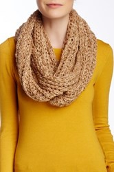 Nine West Chunky Boucle Knit Infinity Scarf Beige