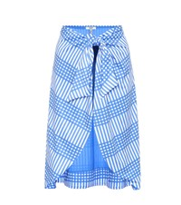 Ganni Exclusive To Mytheresa.Com Aroa Printed Skirt Blue