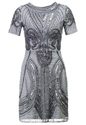 Lace And Beads Tara Cocktail Dress Party Dress Grey