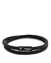 Tateossian Rubber Cable Bracelet Black