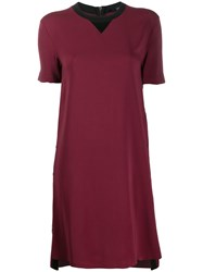 Karl Lagerfeld Two Tone Shift Dress Red