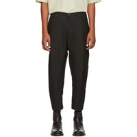 Ziggy Chen Black Chino Trousers