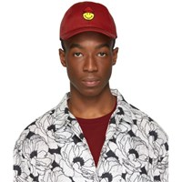Ami Alexandre Mattiussi Red Smiley Edition Patch Cap