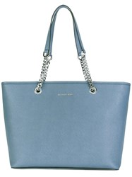 Michael Michael Kors Chain Strap Tote Bag Blue
