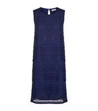 Gottex Sleeveless Crochet Dress Female Blue