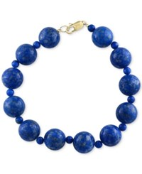 Effy Collection Effy Lapis Lazuli 4 And 12Mm Beaded Bracelet In 14K Gold Yellow Gold