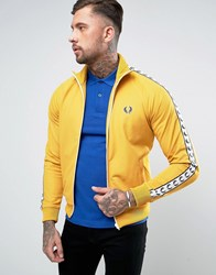 Fred Perry Sports Authentic Track Jacket In Yellow Gold