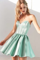 Kimchi And Blue Corsetta Strapless Mini Dress Mint
