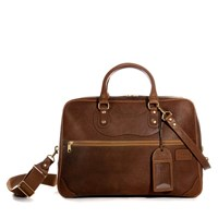 J Panther Luggage Tan Perfect Weekender Holdall Brown